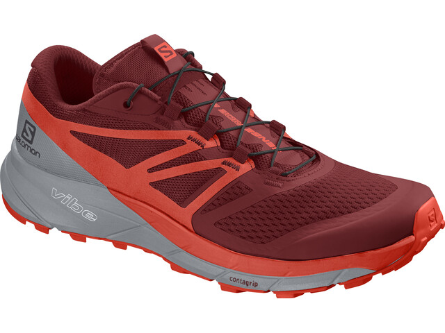Salomon Sense Ride 2 Shoes Herr red dahlia-cherry tomato-quarry